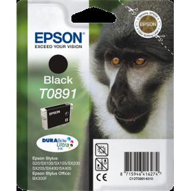 ORIGINAL Cartuccia Inkjet Epson T0891 C13T08914011 Nero 170 Pagine