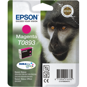 ORIGINAL Cartuccia Inkjet Epson T0893 C13T08934011 Magenta 135 Pagine