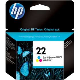 ORIGINAL HP Cartuccia d'inchiostro colore C9352AE 22 ~165 Seiten 6ml