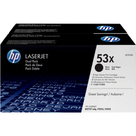ORIGINAL HP Value Pack nero Q7553XD 53X 2 x 7.000 p.