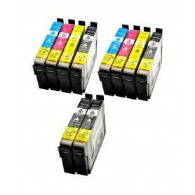 Cartuccia Epson Multipack 4 cartucce Nero 2 Cyano 2 Magenta 2 Giallo T0715 4 cartucce: T0711 + T0712 + T0713 + T0714 Compatibili
