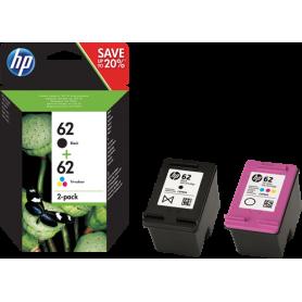 Cartuccia HP Multipack nero + colori  inchiostro HP 62 C2P04AE + C2P06AE Originali