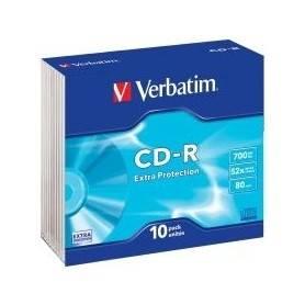 CD-R Verbatim 0,700 GB 10 Pezzi Custodia slim