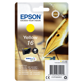 ORIGINAL Epson Cartuccia d'inchiostro giallo C13T16244012 T1624 165 Pagine 3.1ml