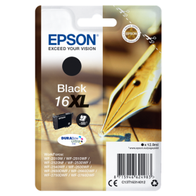 ORIGINAL Epson Cartuccia d'inchiostro nero C13T16314012 T1631 500 Pagine 12.9ml  XL