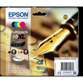 ORIGINAL Epson Multipack bk/c/m/y C13T16364012 T1636 4 cartucce d'inchistro XL: T1631 + T1632 + T1633 + T1634