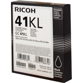 ORIGINAL Cartuccia Ricoh 405765 GC 41 Gel bkl Nero 600 Pagine