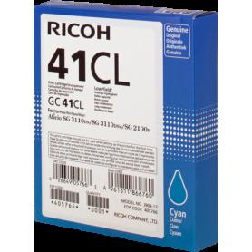 ORIGINAL Cartuccia Ricoh gel  405766 GC 41 cl Ciano 600 Pagine