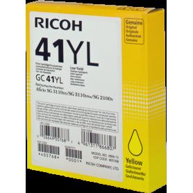 ORIGINAL Cartuccia Ricoh gel 405768 GC 41 yl Giallo 600 Pagine