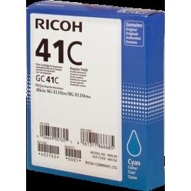 ORIGINAL Cartuccia Ricoh gel 405762 GC 41 c Ciano 2200 Pagine