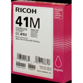 ORIGINAL Cartuccia Ricoh gel  405763 GC 41 m Magenta ~2200 Pagine