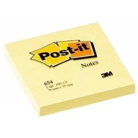 Post.it 76 mm x 76 mm Giallo Confezione 12 Pezzi da100 Fogli da 72 gr/mq
