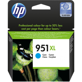 ORIGINAL Cartuccia HP Ink jet  CN046AE 951XL Ciano 1500 Copie 24ml
