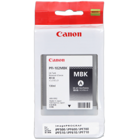 ORIGINAL Cartuccia Canon Ink jet  (opaco) PFI-102mbk 0894B001 130ml