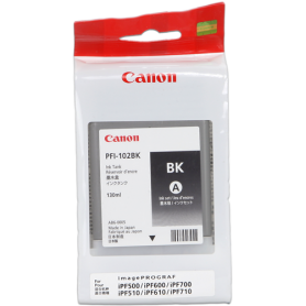 ORIGINAL Cartuccia Canon Ink jet  PFI-102bk 0895B001 Nero 130ml