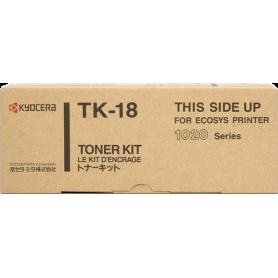 ORIGINAL Toner Kyocera TK-18 1T02FM0EU0 Nero 7200 Pagine