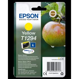 ORIGINAL Cartuccia Epson Inkjet C13T12944012 Giallo T1294 470 Pagine