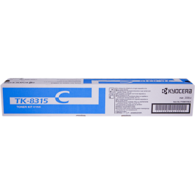 ORIGINAL Toner Kyocera TK-8315C 1T02MVCNL0 Ciano 6000 Pagine