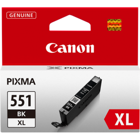 ORIGINAL Cartuccia Canon CLI-551bk XL 6443B001 Nero 11ml