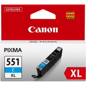 ORIGINAL Cartuccia Canon CLI-551c XL 6444B001 Ciano 11ml
