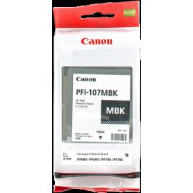 ORIGINAL Cartuccia Canon Inkjet PFI-107mbk 6704B001 Nero Opaco 130ml