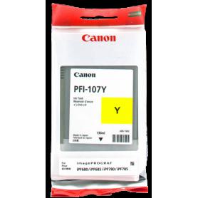 ORIGINAL Cartuccia Canon Inkjet PFI-107y 6708B001 Giallo 130ml