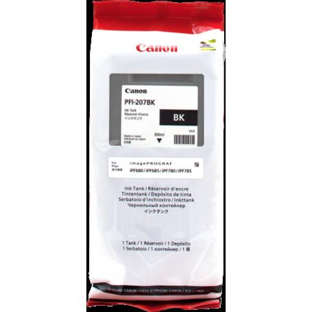 ORIGINAL Cartuccia Inkjet Canon PFI-207bk 8789B001 Nero 300ml
