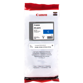 ORIGINAL Cartuccia Inkjet Canon PFI-207c 8790B001 Ciano 300ml