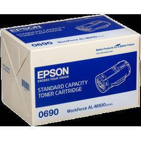 ORIGINAL Toner Epson C13S050690 0690 Nero 2700 Pagine