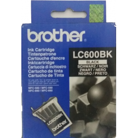 ORIGINAL Cartuccia Inkjet Brother LC600BK Nero