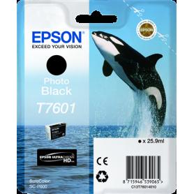 ORIGINAL Cartuccia Inkjet Epson T7601 / C13T76014010 Nero 25.9ml