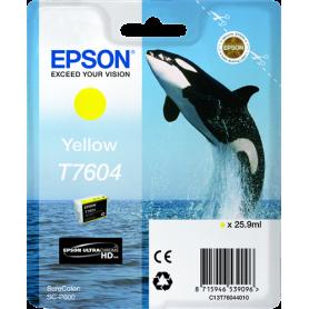 ORIGINAL Cartuccia Inkjet Epson C13T76044010 / T7604  Giallo 2100 Pagine 25.9ml