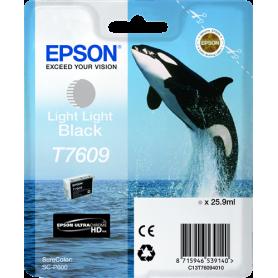 ORIGINAL Cartuccia Inkjet Epson  light light C13T76094010 T7609 Nero Light Light 12000 Pagine 25.9ml