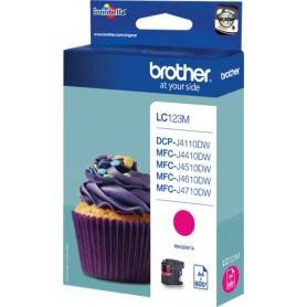 ORIGINAL Brother Cartuccia Inkjet LC123M / Brother LC-123M 600 Pagine