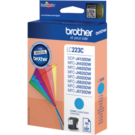 Cartuccia Brother LC223C Originale Brother LC-223 Ciano 550 Pagine