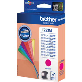 Cartuccia Brother LC223M Originale Brother LC-223 Magenta 550 Pagine