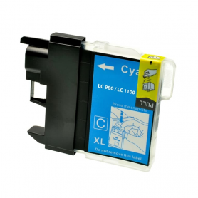 Cartuccia Brother LC980c - Compatibile LC-980 Ciano 260 Pagine