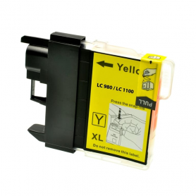 Cartuccia Brother LC980y - Compatibile LC-980 Giallo 260 Pagine