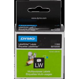 Etichette Dymo LabelWriter 13x25 mm bianche lucide