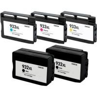 Cartucce HP 932 XL / 933 XL Compatibile Serie Colori più Nero bk/c/m/y