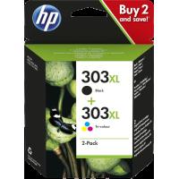 Cartuccia HP 303XL Multipack 3YN10AE Nero 600 Pagine + Colore 415 Pagine Originale