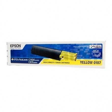 ORIGINAL Epson toner giallo C13S050187 S050187 ~4000 Seiten alta capacit?