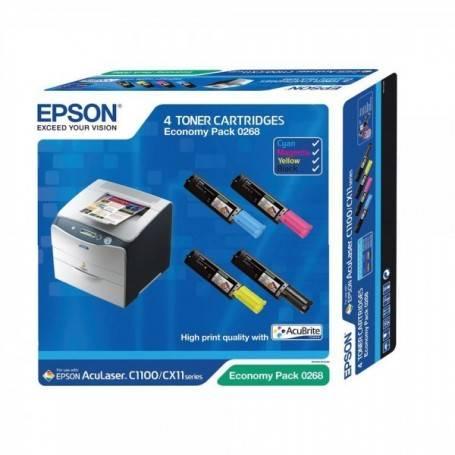 ORIGINAL Epson Multipack bk/c/m/y C13S050268 S050268 4 cartucce: S050190 + S050191 + S050192 + S050193