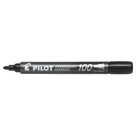 Pilot Permanent Marker 100 nero Punta tonda fine