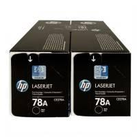 ORIGINAL HP Value Pack nero CE278AD 78A confezione doppia: 2x CE278A