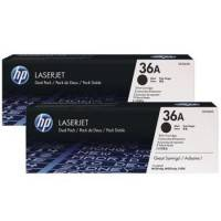 ORIGINAL HP Value Pack nero CB436AD 36A Nastro Trasferimento Termico