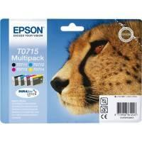 ORIGINAL Epson Multipack bk/c/m/y C13T07154010 T0715 4 cartucce: T0711 + T0712 + T0713 + T0714