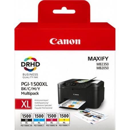 ORIGINAL Canon Multipack bk/c/m/y PGI-1500 XL multi 9182B004 4 cartucce d'inchiostro PGI-1500 XL: bk+c+m+y
