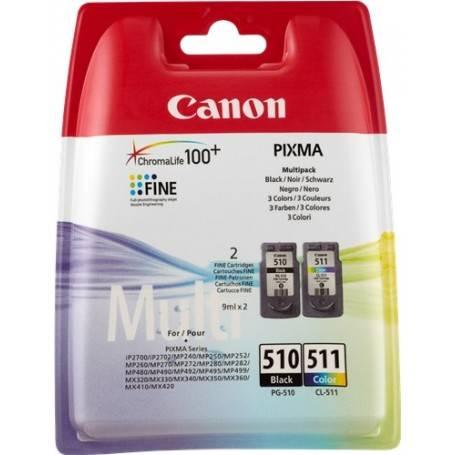 Cartuccia Canon Multipack nero+colore 2970B010 PG-510 + CL-511 PG-510 + CL-511
