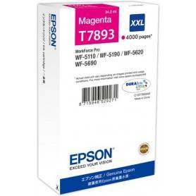 ORIGINAL Epson Cartuccia d'inchiostro magenta C13T789340 T7893 ~4000 Seiten 34.2ml XXL